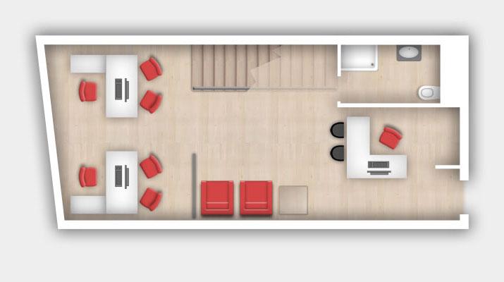 Planos de los despachos profesionales en madrid torre rioja for Imagenes de despachos en casa